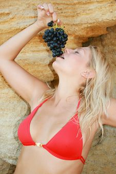 Free The Girl With Grapes Stock Photos - 6770433
