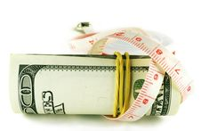 Free One Hundred Dollar Bill Roll - Dollar Grows Thin Royalty Free Stock Photography - 6770477