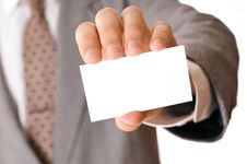 Free Businessman Holding Visiting Card Stock Photo - 6771100
