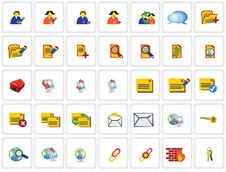 35 Network Icons Royalty Free Stock Images