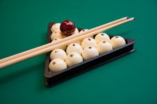 Free Billiard Set On Green Table Royalty Free Stock Photo - 6771355