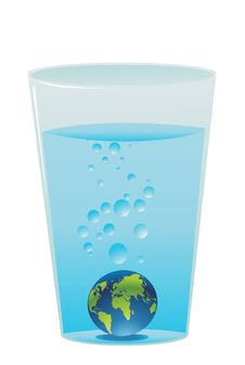 Free Planet Earth In Blue Water Stock Photography - 6771372