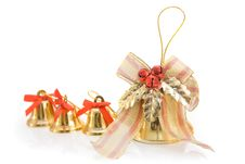 Free Gold Christmas Bells Stock Image - 6771511