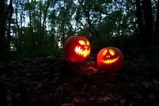 Free Halloween Pumpkins Royalty Free Stock Image - 6771726