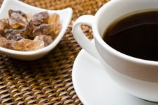Free Black Coffee And Sugar Stock Photography - 6772252