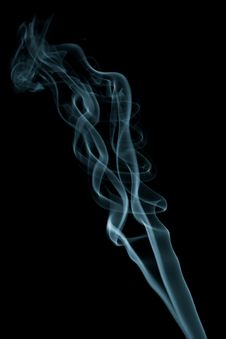 Smoke Isolated On Black Royalty Free Stock Image