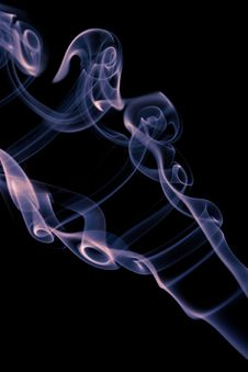 Free Blue Smoke Isolated Royalty Free Stock Photography - 6772347