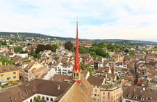 Free The Aerial View Of Zurich Cityscape Royalty Free Stock Image - 6773026