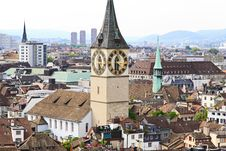 Free The Aerial View Of Zurich Cityscape Royalty Free Stock Image - 6773046