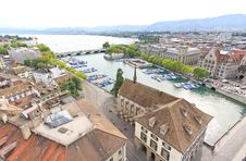 Free The Aerial View Of Zurich Cityscape Stock Image - 6773161