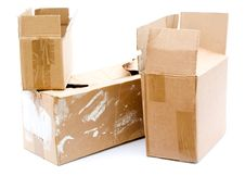 Cardboard Boxes Royalty Free Stock Images