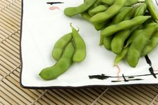 Free Edamame On White Plate Royalty Free Stock Images - 6773839