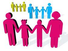 Free Happy Families Stock Image - 6774861