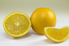 Orange And Slices Royalty Free Stock Images