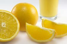 Free Oranges With Orange Juice Drink Stock Photos - 6775063