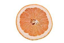 Slice Of Ruby Grapefruit Stock Photo