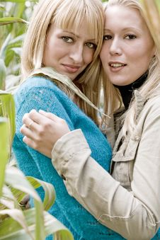 Free 2 Sisters In A Cornfield Stock Photo - 6775590