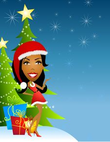 Free Female Santa Helper 2 Stock Image - 6776091