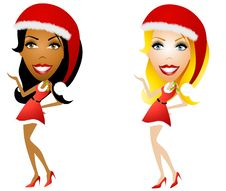 Free Female Santa Helpers Stock Photos - 6776093