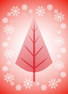 Free Red Xmas Tree Background Royalty Free Stock Image - 6776176