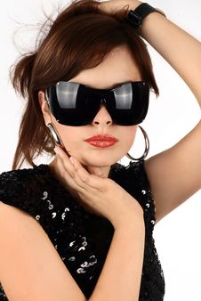 Free Brunette In Sun Glasses Royalty Free Stock Image - 6777316