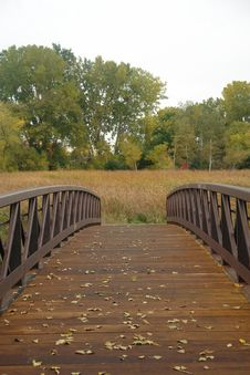 Free Fall Leaves On Footbridge Stock Photography - 6778202