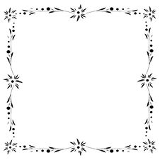 Free Abstract Floral Frame Royalty Free Stock Photo - 6778835