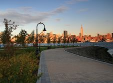Free New York City Skyline At Dusk From Hoboken, NJ Stock Photo - 6778900