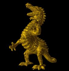 Free Gold Dragon. Royalty Free Stock Images - 6779069