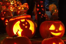 Free Carved Lighted Pumpkins Royalty Free Stock Image - 6779496