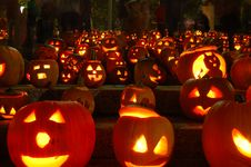 Free Carved Lighted Pumpkins Royalty Free Stock Images - 6779509