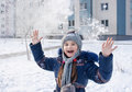 Free Girl Playing In The Snow Stock Photos - 67796033