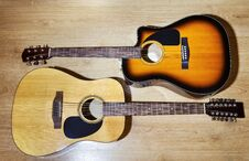 Free Two Acoustic Guitars Royalty Free Stock Photo - 67795945