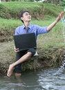 Free Business Man Enjoy Nature Stock Photo - 6786670