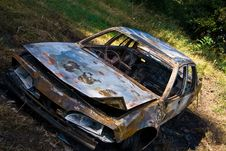 Burned Out Car Royalty Free Stock Image