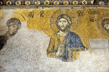 De�sis Mosaic, Hagia Sophia, Istanbul Stock Photography