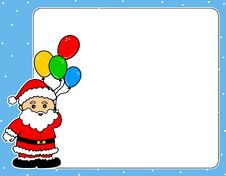 Free Santa Claus Christmas Border Stock Photo - 6780230