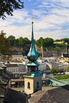 Free The Aerial View Of Salzburg City, Austria Royalty Free Stock Photography - 6780397