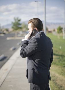 Free Businessman On Cell Phone Stock Photography - 6780792