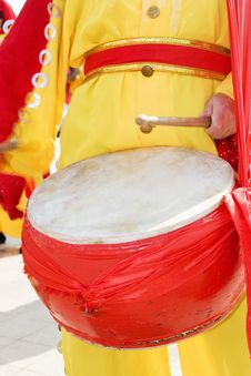 Free The Chinese Drummer Royalty Free Stock Photo - 6781425