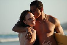 Free Young Couple On The Beach Royalty Free Stock Photos - 6781548