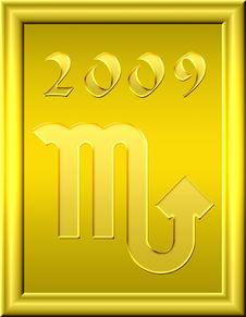 Free Scorpio Gold Royalty Free Stock Image - 6782796