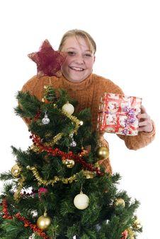 Free Happy Christmas Girl Stock Image - 6782821