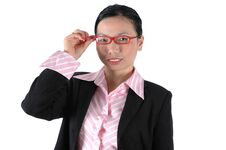 Free Chinese Office Lady Close Portrait Stock Photos - 6783023