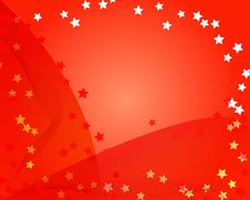 Free Red Star Background Royalty Free Stock Photo - 6785555