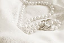 Free Pearls And Wedding Bangs. Toning In Sepia. Royalty Free Stock Images - 6785779