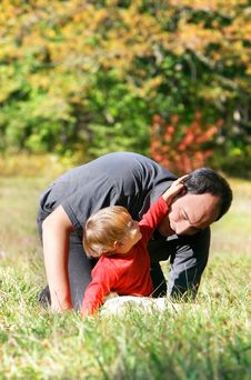 Free Father And Son Outdoor Royalty Free Stock Image - 6786146