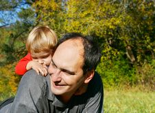 Free Father And Son Outdoor Stock Image - 6786361