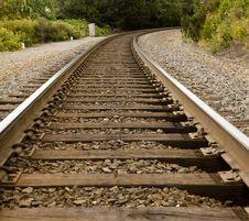 Free Train Tracks Around The Bend Royalty Free Stock Photo - 6786395