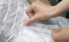 Free Gathering Of The Bride: A Dress Lacing. Stock Photos - 6786513